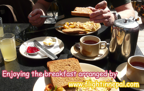 Meal during Annapurna Comfort Trek